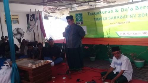 Ir. Nur Yasin saat acara Deklarasi PPL dan Tasyakuran (foto : Moh. Ali Makrus / JatimyTIMES)