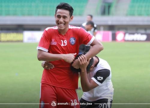 Gelandang muda Arema FC, Hanif Sjahbandi (official Arema FC)