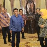 Gubernur Jatim Khofifah Indar Parawansa saat menerima audiensi PERDAMI Jatim di Gedung Negara Grahadi Surabaya