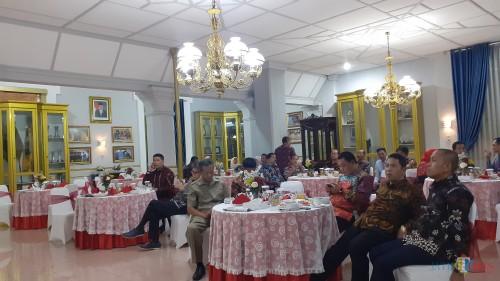 Suasana Gala Dinner Aliansi Kabupaten Kota Peduli Sanitasi (Akkopsi) yang digelar di Pendopo Kabupaten Malang, Rabu (7/8/2019) malam (Pipit Anggraeni/MalangTIMES).