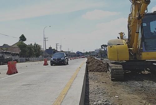 Pembangunan jalur baru di Ampeldento sebagai bagian exit tol Mapan (Ist)