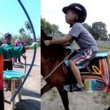 Anak Berkebutuhan Khusus, siswa SD SAInS Situbondo Jatim saat berlatih kuda dan panahan (Foto: Heru Hartanto / SitubondoTIMES)