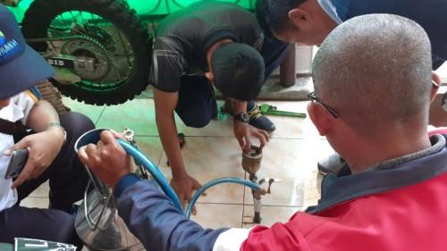 Perumda Tirta Kanjuruhan Kabupaten Malang Datangi Rumah Pelanggan Uji Akurasi