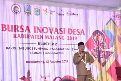 Plt Bupati Malang Sanusi mengharap para inovator tidak mudah patah semangat. (Humas Kab Malang)