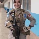 Sosok Polantas Cantik jadi Pasukan Perdamaian PBB, Warganet : Kak Tembak Saya Pliss...