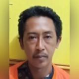 Tersangka Agus Supriyadi alias Kaka, kini meringkuk di tahanan Polsek Kota Banyuwangi