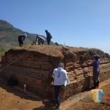 Diduga Tempat Pemujaan, BPCB Trowulan Eskavasi Bangunan Mirip Candi di Kaki Lereng Gunung Wilis