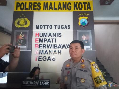Kabag Ops Polres Malang Kota, Kompol Sutantyo (Anggara Sudiongko/MalangTIMES)
