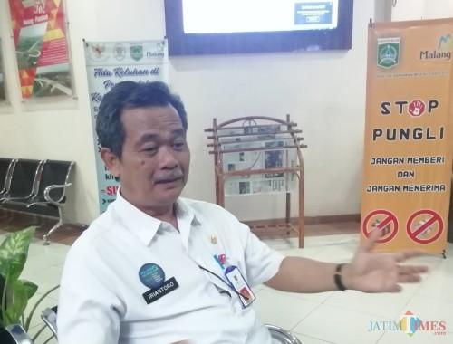 Iriantoro Kepala DPMPTSP Kabupaten Malang menyatakan tidak bisa menolak ajuan alih fungsi lahan di wilayahnya asal ketahanan pangan terjaga (Nana)