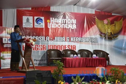 Wakil Bupati Jember Drs KH Abdul Muqit Arief pada acara Harmoni Indonesia. (foto : Izza / Jatim TIMES)