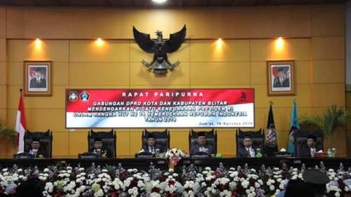 Rapat Paripurna Gabungan  DPRD Kota dan Kabupaten Blitar