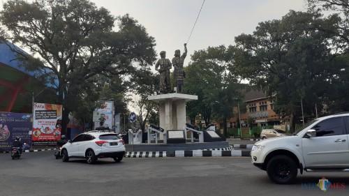 Kawasan Jl. Tangkuban Perahu yang rencananya ditutup selama Upacara Hari Kemerdekaan RI ke 74 di Stadion Gajayana Malang (Pipit Anggraenu/MalangTIMES)