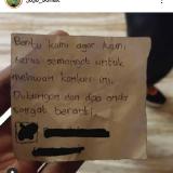 Secarik surat yang diupload di akun Instagram Jojo Bonek