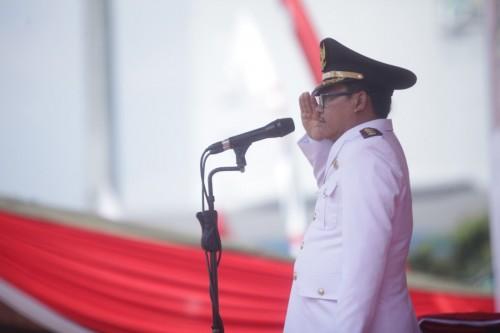 Wali Kota Malang Sutiaji saat menjadi inspektur upacara peringatan Detik-Detik Proklamasi Kemerdekaan Republik Indonesia yang diselenggarakan di Stadion Gajayana Malang, Sabtu (17/8/2019) (Humas Pemkot Malamg for MalangTIMES).