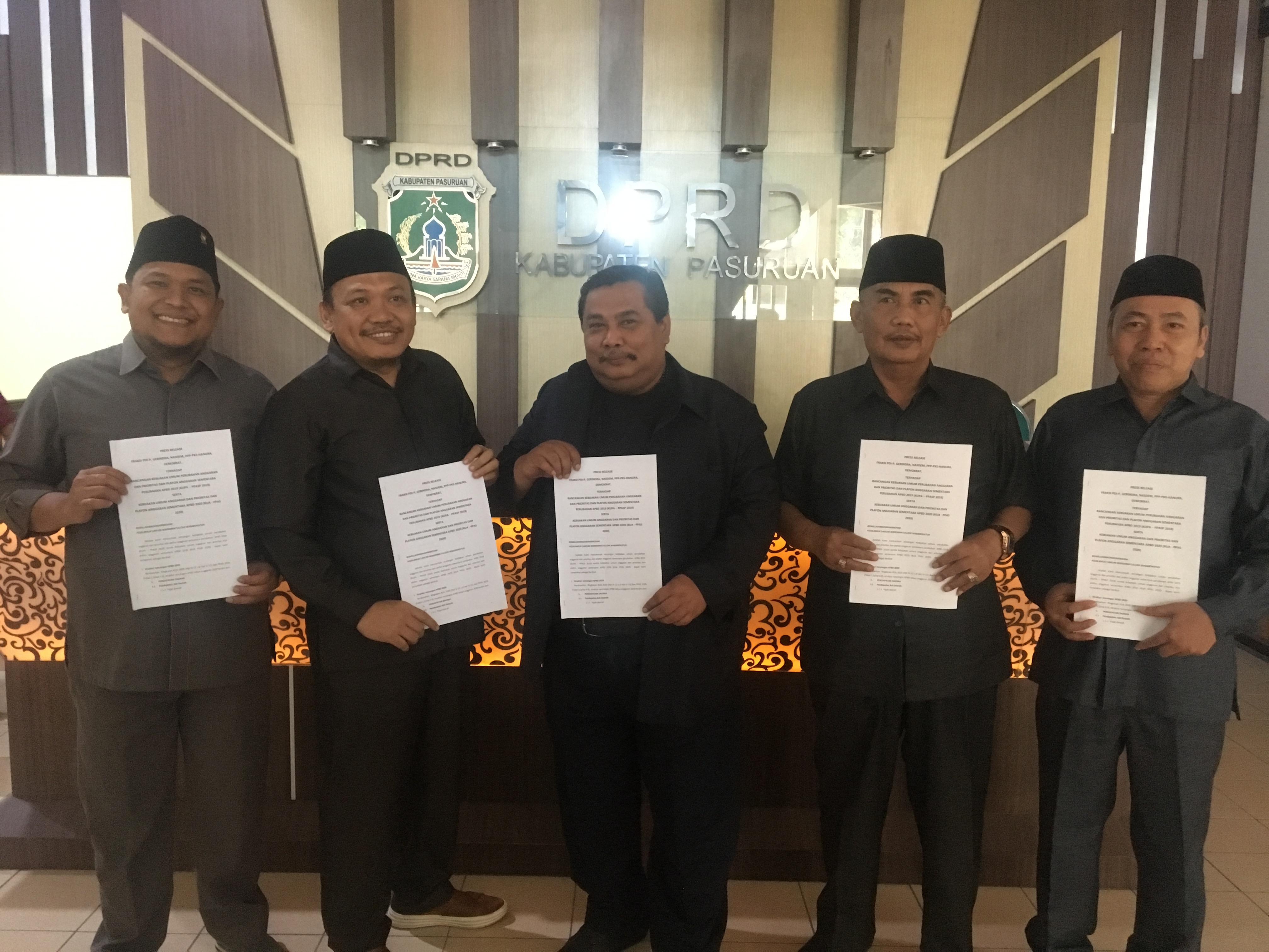 Pimpinan fraksi di DPRD Kabupaten Pasuruan