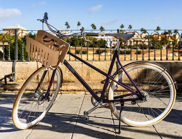 Sepeda berasal dari pod kopi bekas. (Foto: Istimewa)