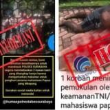 Dua foto dan kabar hoaks yang telah diklarifikasi Kominfo RI. (Foto: Dok MalangTIMES)