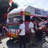 Bus Harapan Janda yang Hebohkan warga di desa Kromasan Kecamatan Ngunut / Foto : Kasim / Tulungagung TIMES