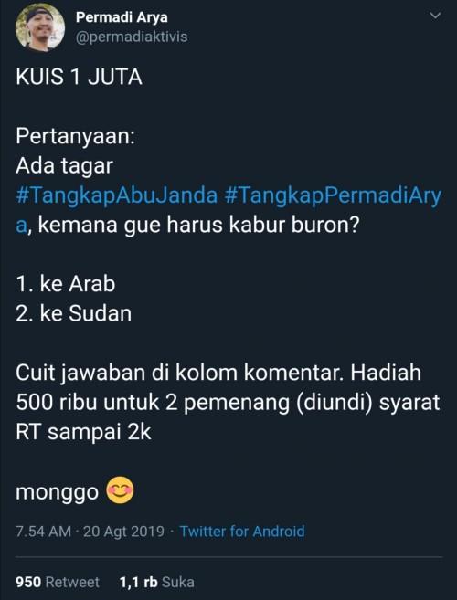 Screenshot @permadiaktivis atau Abu Janda
