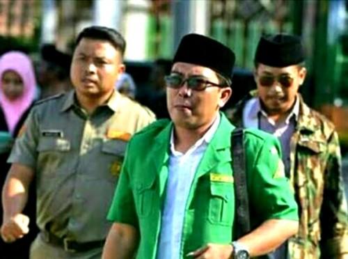 Ketua GP Ansor Kabupaten Malang Husnul Hakim jamin keamanan mahasiswa Papua. (nukita.id)