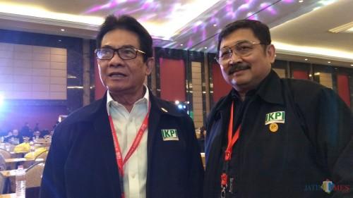 Ketua Umum IKPI Mochamad Soebakir (kiri) saat ditemui di sela kegiatan Kongres XI di Kota Batu, Jawa Timur. (Foto: Nurlayla Ratri/MalangTIMES)