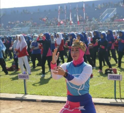 21 ribu anak TK, guru dan wali murid senam meraih bintang dan mendapat apresiasi Sekda Kabupaten Malang Didik Budi Muljono (Humas Pendidikan for MalangTIMES)