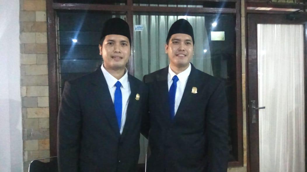 Ricco Antar Budaya dan Riccy Antar Budaya, saudara kembar yang duduk menjadi anggota DPRD Banyuwangi periode 2019 -1024