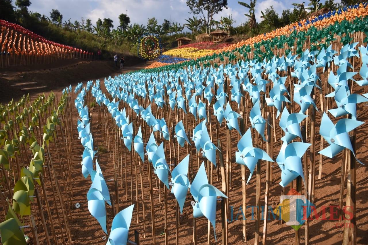 Suasana lokasi wisata Bumi Kitiran di Desa Bumiaji, Kota Batu. (Foto: Nurlayla Ratri/MalangTIMES)