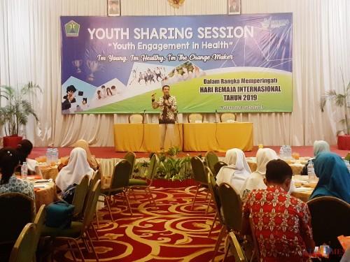 Suasana Youth Sharing Session Dinkes Kota Malang. (Arifina Cahyanti Firdausi/MalangTIMES)
