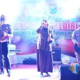 Gatur Pagi Band, Band Anggota Satlantas Polres Kediri. (Foto: Bambang Setioko/JatimTIMES)