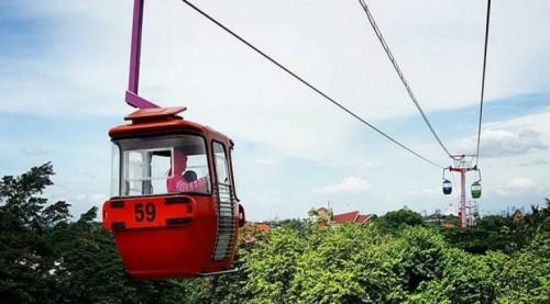 Kereta gantung di Taman Mini Indonesia Indah. (Foto: istimewa)