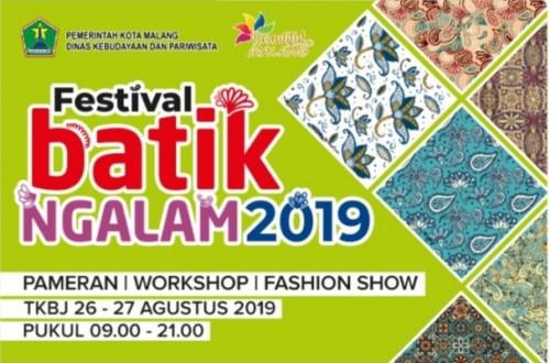 Poster Festival Batik Ngalam 2019 (Foto: Istimewa)