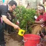 Pasca Ricuh Papua, Ratusan Pemuda Indonesia Malang Raya Ajak Indonesia Tersenyum dengan Tanam Pohon Perdamaian
