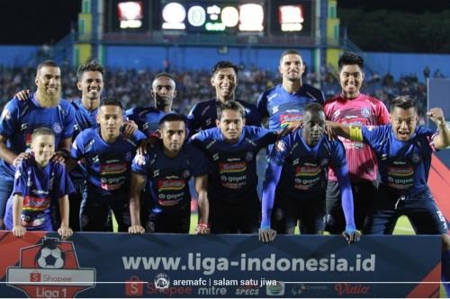 Skuat Arema FC saat akan menghadapi Persebaya Surabaya di Stadion Kanjuruhan (official Arema FC)