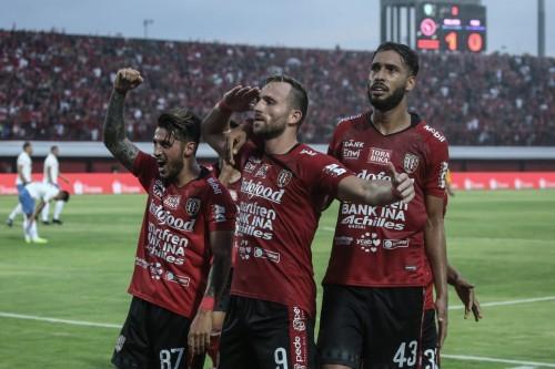 Pemain Bali United saat merayakan gol (dok Liga Indonesia)