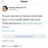 Status Kaesang dalam twitternya.