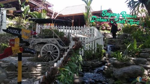 Suasana asri Kampung Flory di Yogyakarta yang merupakan salah satu desa wisata binaan Bank Indonesia. (Foto: Nurlayla Ratri/MalangTIMES)