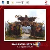Gapura Garuda di Desa Sidomulyo, Kota Batu, yang masuk nominasi 10 besar Festival Gapura Cinta Negeri tingkat nasional.