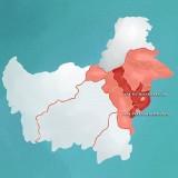 Peta Kalimantan Timur. (Foto: instagram @jokowi)