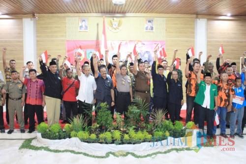 Polres Kediri Jamin Warga Papua dan Luar Daerah di Kabupaten Kediri Aman. (Foto: Bambang Setioko/JatimTIMES)