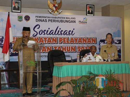 Sosialisasi bagi 70 sopir dan pengusaha PO se-Kabupaten Malang sebagai langkah konkret Dishub dalam merangkul peran mereka dalam sektor pariwisata. (Nana)