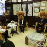 Pengurus PSSI Jatim ketika audiensi dengan Wali Kota Surabaya Tri Rismaharini