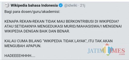 Wikipedia Bahasa Indonesia Sambat Keluhkan Sikap Dosen Guru Dan Akademisi Malangtimes