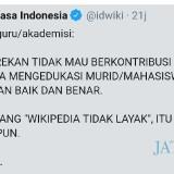Wikipedia Bahasa Indonesia Sambat, Keluhkan Sikap Dosen, Guru dan Akademisi