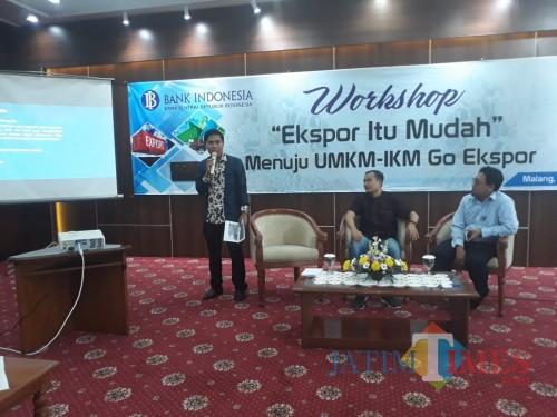 Kegiatan workshop ekspor bagi pemula yang melibatkan UMKM di wilayah kerja KPw BI Malang. (Foto: Nurlayla Ratri/MalangTIMES)