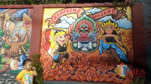 Seni mural di Desa Beji/Foto Muklas