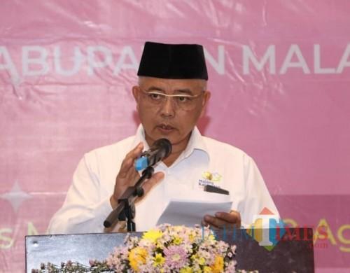 Plt Bupati Malang Sanusi berjanji akan memberikan mobil operasional untuk para Kades di tahun 2021 (humas Pemkab Malang)