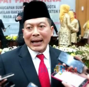 Didik Gatot Subroto jadi ketua sementara DPRD Kabupaten Malang 2019-2024. (for MalangTIMES)