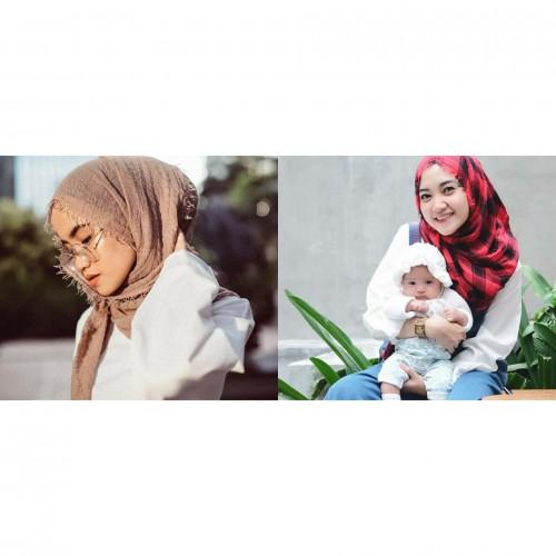 Gaya hijab crinkle (Foto: Istimewa)