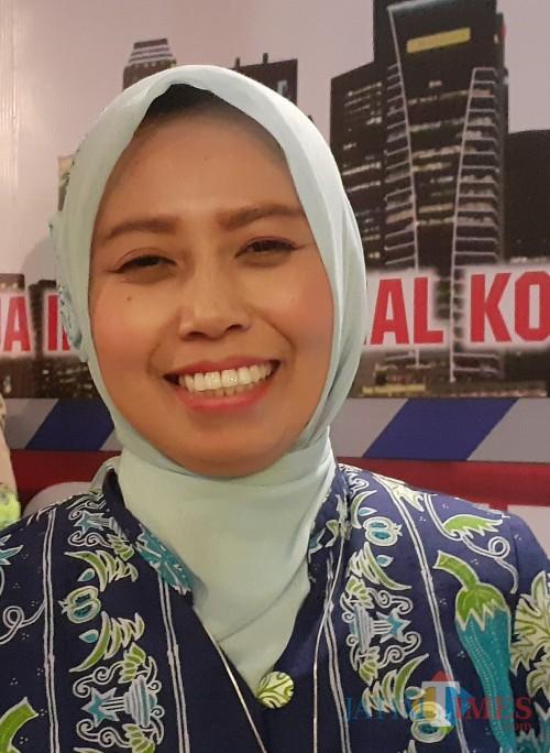 Kasi Kesehatan Keluarga dan Gizi Masyarakat Dinkes Kota Malang, Meifta Eti Winindar, SST, MM (foto: Arifina Cahyanti Firdausi/MalangTIMES)